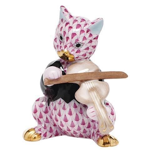 $325.00 Cat with Fiddle - Raspberry