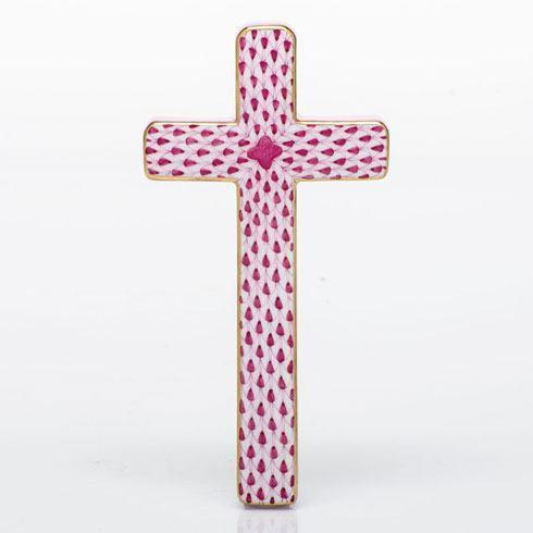 $270.00 Cross - Raspberry