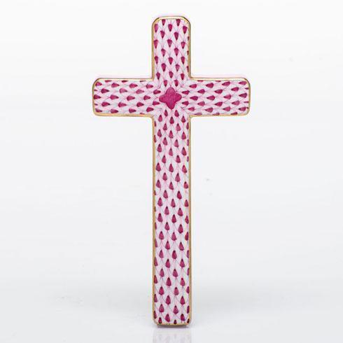 $270.00 Cross - Raspberry