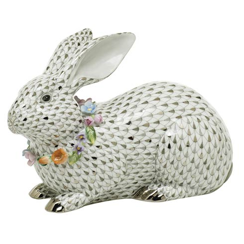 $2,350.00 Gray Bunny with Garland