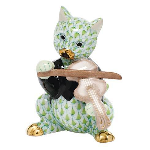 $325.00 Cat with Fiddle - Key Lime
