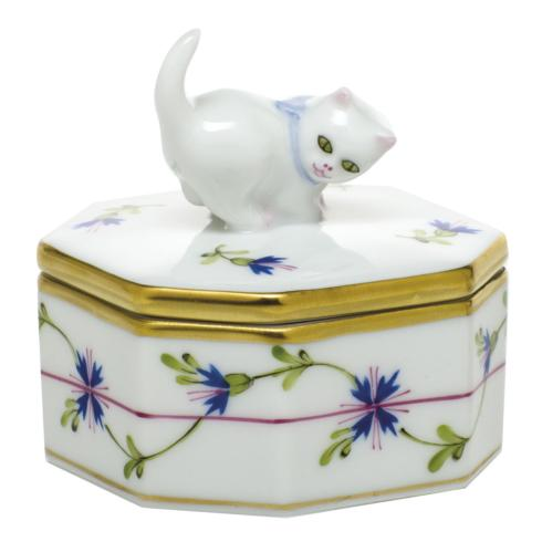 Small Octagonal Box - Cat