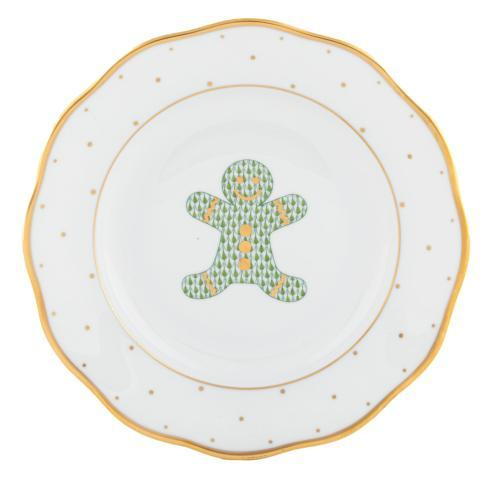 Herend Collections Christmas Dessert Plate - Ginger Breadman $165.00