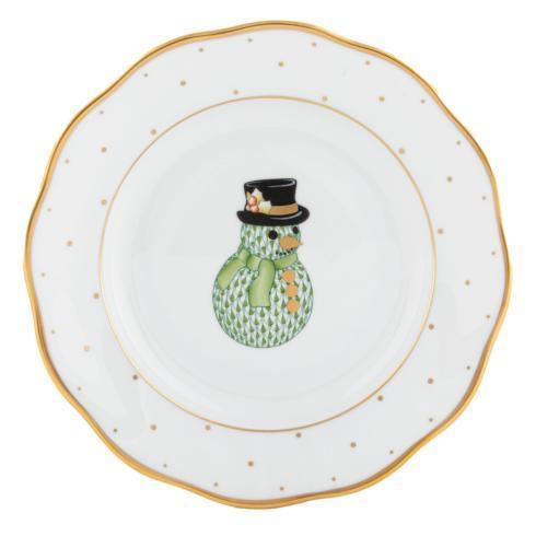 $165.00 Dessert Plate - Snowman