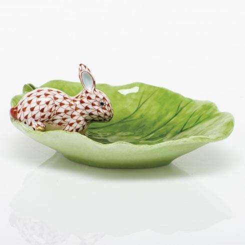$350.00 Bunny on Cabbage Leaf - Rust