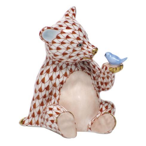 $390.00 Bear with Bird - Rust