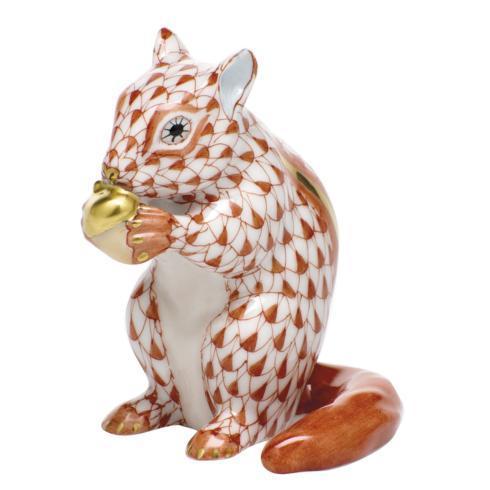 $395.00 Chipmunk with Acorn - Rust