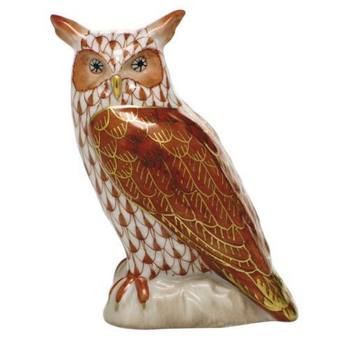 $325.00 Great Horned Owl - Rust