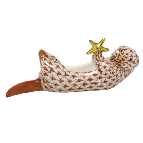 $315.00 Sea Otter with Starfish - Rust
