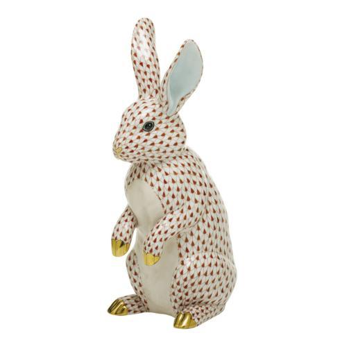 $1,775.00 Large Standing Rabbit-Rust