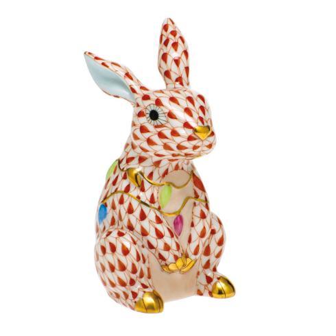 Bunny with Christmas Lights-Rust image