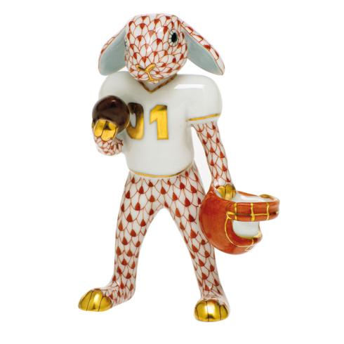 $435.00 Football Bunny-Rust