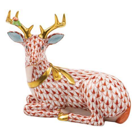 Herend Figurines Deer Lying Christmas Deer $575.00