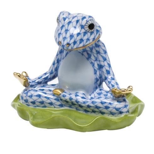 Yoga Frog -  Blue