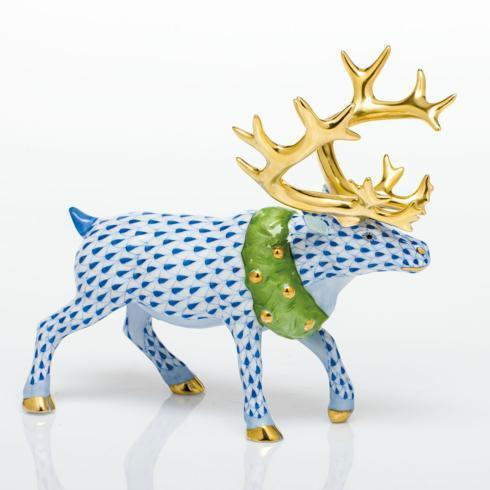 $785.00 Holiday Reindeer - Blue