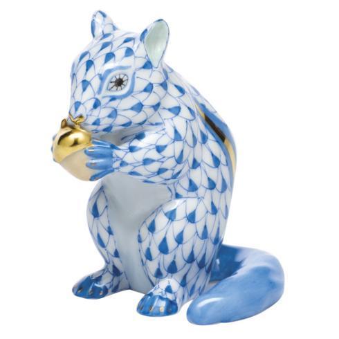 $395.00 Chipmunk with Acorn - Blue