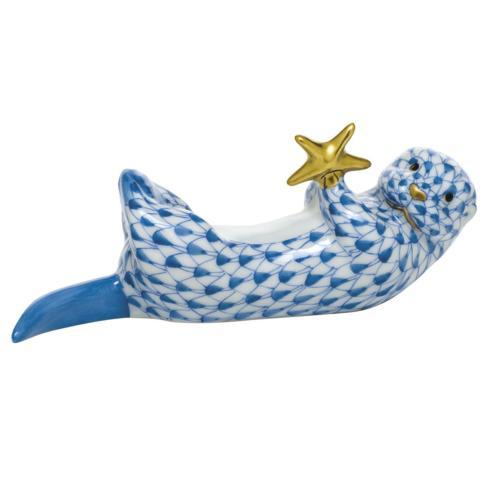 $315.00 Sea Otter with Starfish - Blue