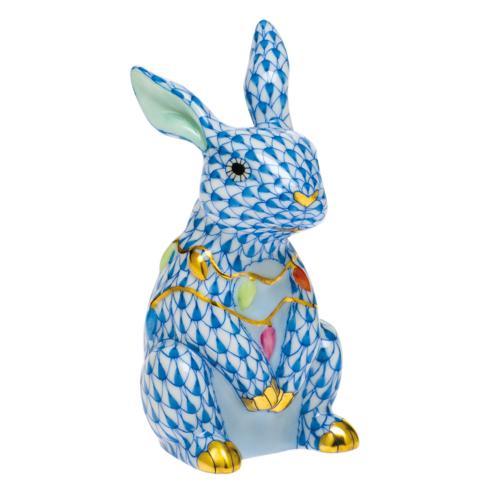 $385.00 Bunny with Christmas Lights-Blue
