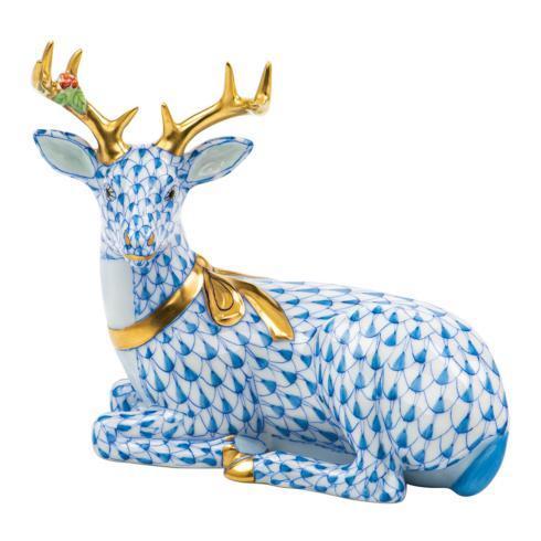 $575.00 Lying Christmas Deer-Blue