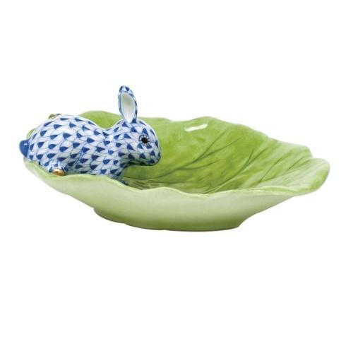 $350.00 Bunny on Cabbage Leaf - Sapphire