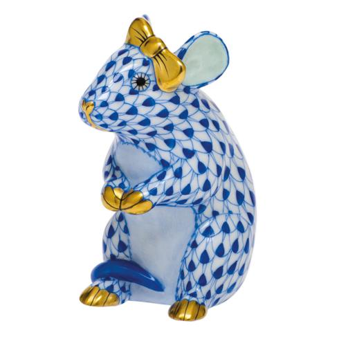 $295.00 Mouse with Bow-Sapphire