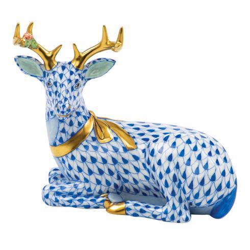 $575.00 Lying Christmas Deer-Sapphire