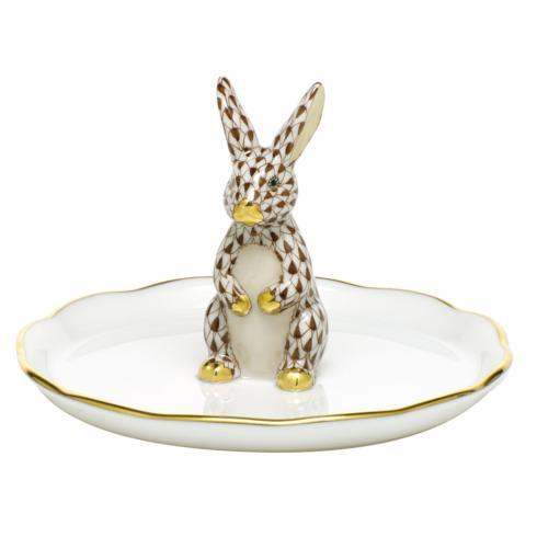 $275.00 Bunny Ring Holder - Chocolate
