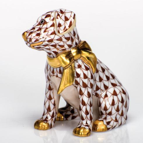 Herend Figurine's Dogs Doggie Dazzle - Chocolate $285.00