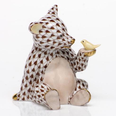 $390.00 Bear with Bird - Chocolate