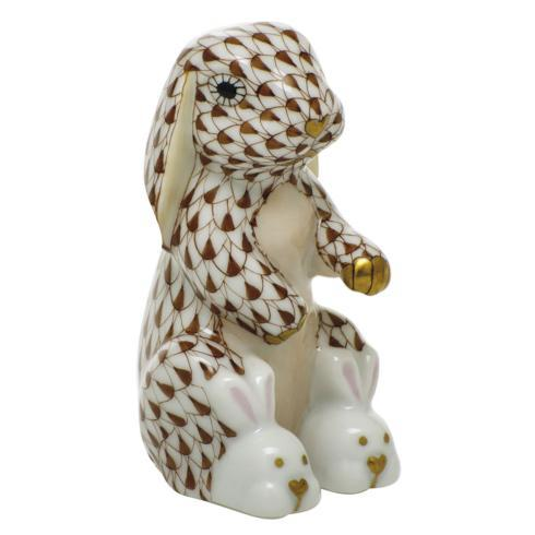 $325.00 Bunny Slippers - Chocolate