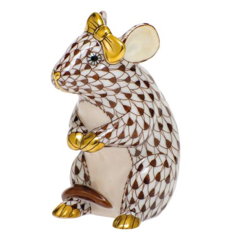 $295.00 Mouse with Bow-Chocolate