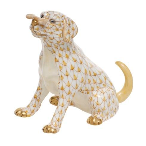 Herend Figurine's Dogs Max w/bone - Butterscotch $340.00
