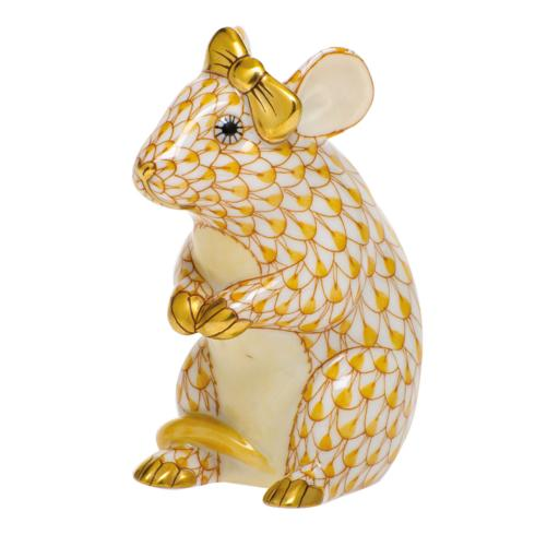 $295.00 Mouse with Bow-Butterscotch