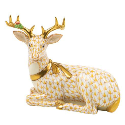 $575.00 Lying Christmas Deer-Butterscotch