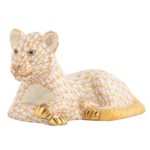 Herend Figurines Lions & Tigers Young Lion $425.00