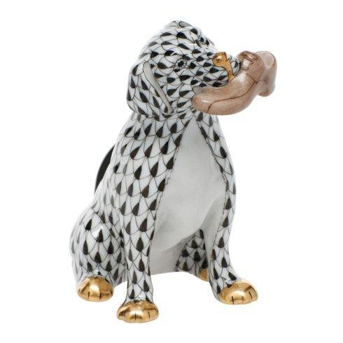 Herend Figurine's Dogs Bella with shoe - Black $340.00
