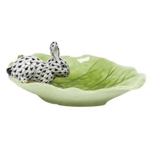 $350.00 Bunny on Cabbage Leaf - Black