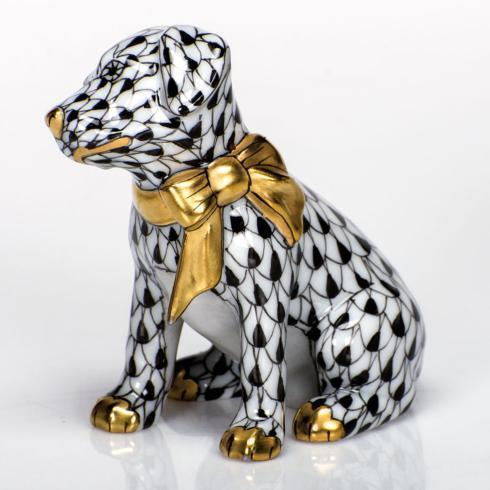Herend Figurines Dogs Doggie Dazzle - Black $285.00