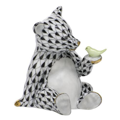 $390.00 Bear with Bird - Black