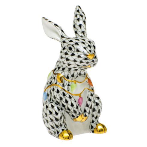 $385.00 Bunny with Christmas Lights-Black