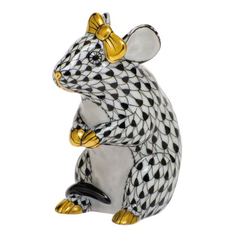 $295.00 Mouse with Bow-Black