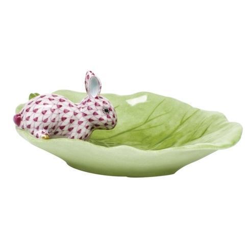 $350.00 Bunny on Cabbage Leaf - Raspberry
