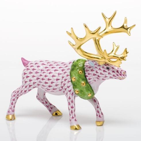 $785.00 Holiday Reindeer - Raspberry
