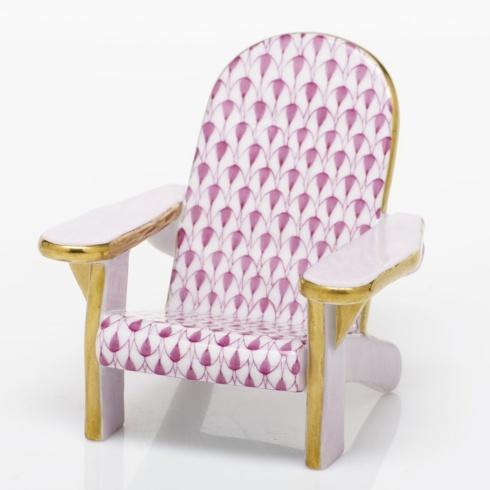 $295.00 Adirondack Chair - Raspberry