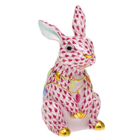 $385.00 Bunny with Christmas Lights-Raspberry