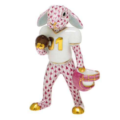$435.00 Football Bunny-Raspberry
