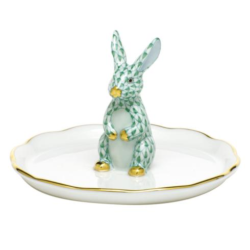 $275.00 Bunny Ring Holder - Green