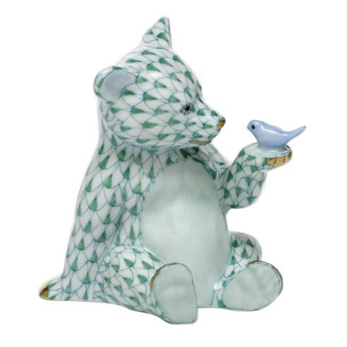 $390.00 Bear with Bird - Green