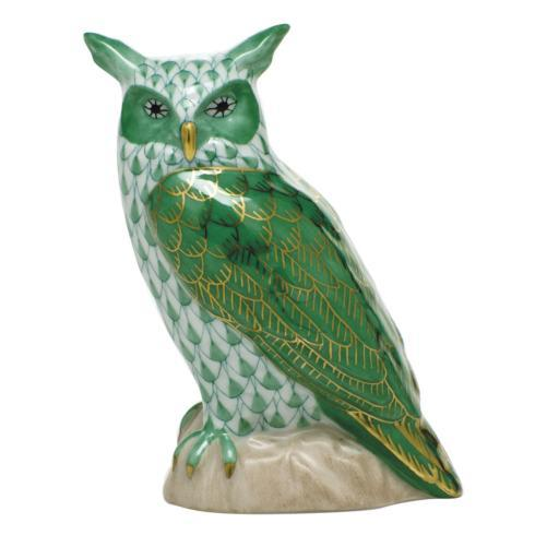$325.00 Great Horned Owl - Green