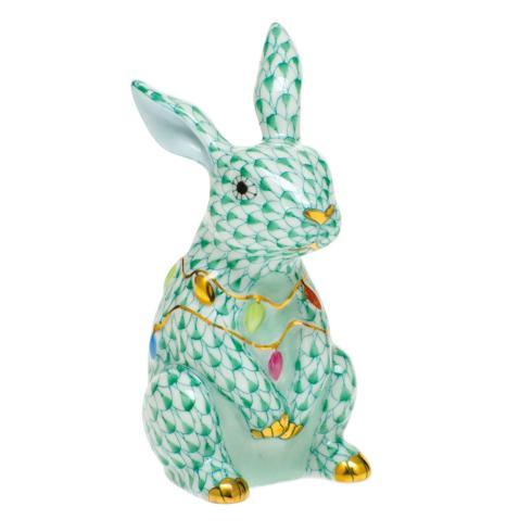 $385.00 Bunny with Christmas Lights-Green